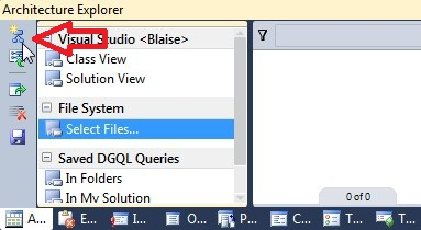 """Mouse pointer on """"new graph document"""" button"""