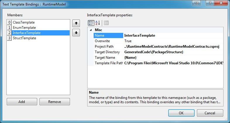 Code generation from Visual Studio UML class diagram (2/2)