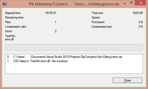 Parallel Deflate issue in DotNetZip Library |  NET Development by Eric