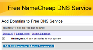 add selected domain