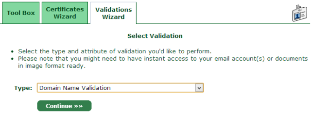 Domain Name Validation
