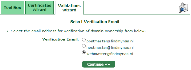 Select Verification Email